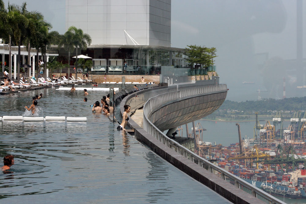 Pool view Marina Bay Sands